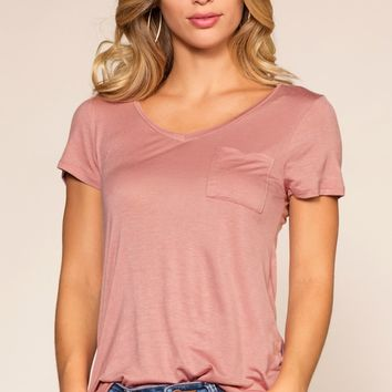 Kaylee Basic Top - Pink