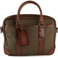 Polo Ralph Lauren leather trim briefcase