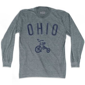 Ohio State Tricycle Adult Tri-Blend Long Sleeve T-shirt