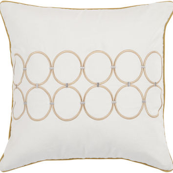 Gold Circles Decorative Throw Pillow