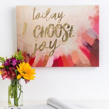 Today I Choose Joy Canvas Wall Decor