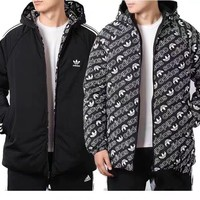 HCXX 558 Adidas Double-sided down jacket with cap Black