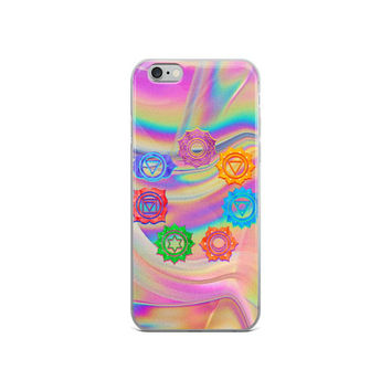 7 Chakra Psychedelic iPhone Case Hippie Boho Phone Protector iPhone 5/5s/Se, 6/6s, 6/6s iPhone X
