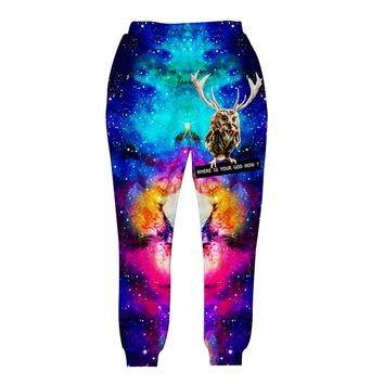 2017 Newest fashion men/women's 3d pant Funny printed animal Lucky bird space galaxy trousers joggers autumn clothes