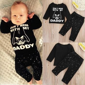 Star Wars Newborn Tops Shirt Pants Set Baby Boy Clothes Outfit