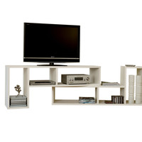 Domino Duo Shelving Unit Pure White Bookcase