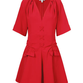 Robe Courte Lace-Up Dress