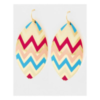 Oval Chevron Earrings