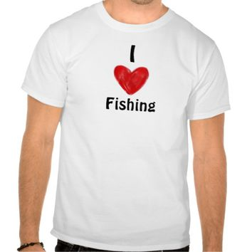 Custom Men's T-Shirt I Love Fishing