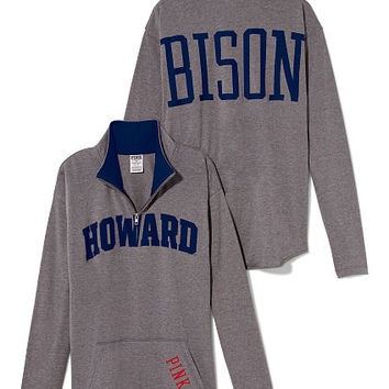 new concept c11b2 dbdc0 Howard University Raw Half-zip Pullover - PINK - Victoria's Secret
