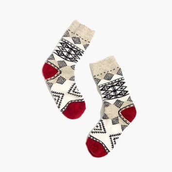 Diamond Carpet Trouser Socks : shopmadewell AllProducts | Madewell
