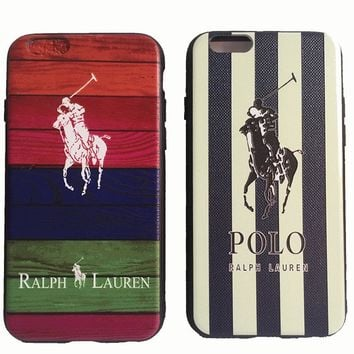 Fashion Brand Polo Ralph Laurens Phone Case Cover for iphone 6 6s 6Plus 7 7plus Soft PVC cover
