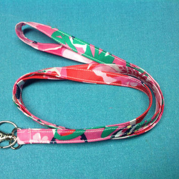 Lanyard with your choice of Designer Inspired Fabric