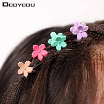 40 pcs Fashion Hair Accessories Hairpins Small Flowers Gripper Korean Children 4 Claws Plastic Hair Clip Clamp