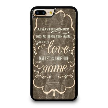 THE AVETT BROTHERS QUOTES iPhone 4/4S 5/5S/SE 5C 6/6S 7 8 Plus X Case