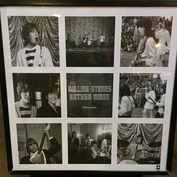"""Rolling Stones """"Gathering Moss"""" Black and White Printed Poster"""
