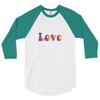 Shop Women's & Men's 3/4 sleeve Raglan Shirt - Retro 70's