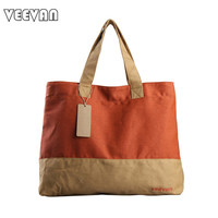 VEEVAN 2016 handbag casual women tote bag designer brand handbags women shoulder bag canvas bag for men and women school bags
