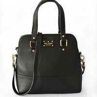 New Arrival Kate Spade New York Women Fashion Shopping PU Tote Handbag Shoulder Bag Color Black