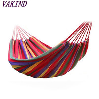 2016 Bigger Summer High Quality Portable Outdoor Garden Hammock Hang BED Travel Camping Swing Canvas Stripe Free Shipping