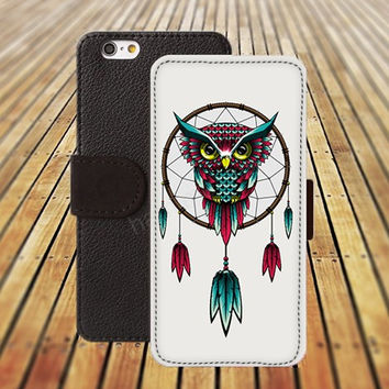 iphone 5 5s case owl dream catcher iphone 4/ 4s iPhone 6 6 Plus iphone 5C Wallet Case , iPhone 5 Case, Cover, Cases colorful pattern L098