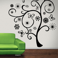 Vinyl Wall Decal Sticker Abstract Spring Tree #1282