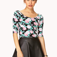 Enchanted Floral Crop Top