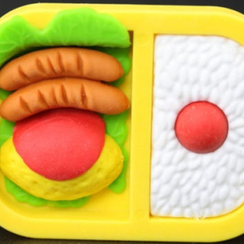 Bento Box with Omelet and Sausage