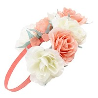 Capelli of New York Oversized Floral Crown Headband (Juniors) (Online Only)