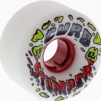 Venom Curb Stompers 61mm 82a White Longboard Wheels