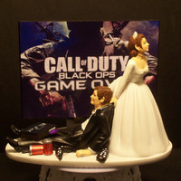 Video Game Call of Duty Bride and Groom Funny Wedding by mikeg1968