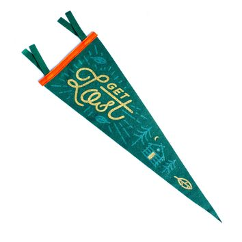 Get Lost Wall Pennant
