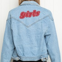 ISABELLE GIRLS PATCH DENIM JACKET