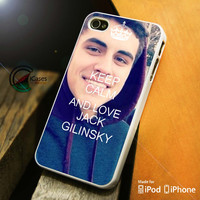 Keep Calm and Love Jack Gilinsky iPhone 4 5 5c 6 Plus Case, Samsung Galaxy S3 S4 S5 Note 3 4 Case, iPod 4 5 Case, HtC One M7 M8 and Nexus Case