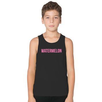 Watermelon Beyonce Kids Tank Top