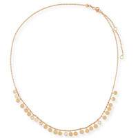 Kismet by Milka Dangling Circles Necklace with Diamonds