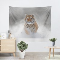 Winter Tiger Tapestry