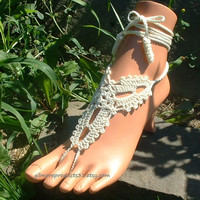 #beach #wedding #foot #jewelry #barefoot #sandals #lace #crochet #slave #anklet #bracelet #trendy #unique #shop #buy #love