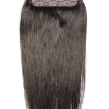 """ZZHAIR 150g 16""""-28"""" Non-remy Hair One piece Set 5 Clip-in Human Hair Extensions 22 Colors Full Head Set Natural Straight Hair"""