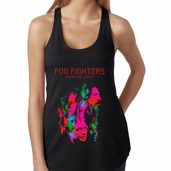 Foo Fighters Tank Top Wasting Light Album Cover, Lady Women Fit Tee, Sweater Hoodie Tshirt Tank Top