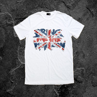Bring Me the Horizon T Shirt Women TShirt Screen Printed Tshirts Men T-Shirts UK Flag Size S M L