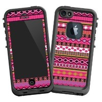 "Pink Geometric Tribal ""Protective Decal Skin"" for LifeProof fre iPhone 5/5s Case"