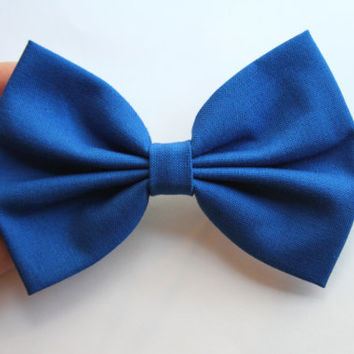 NEW - Brittany Hair Bow - Blue Hair Bow with Clip