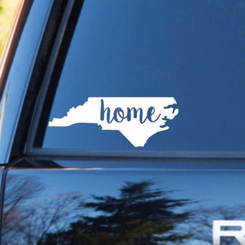 North Carolina Home Decal | North Carolina Decal | Homestate Decals | Love Sticker | Love Decal  | Car Decal | Car Stickers | 125