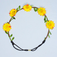 Daisy Don't Cry Headband - Yellow