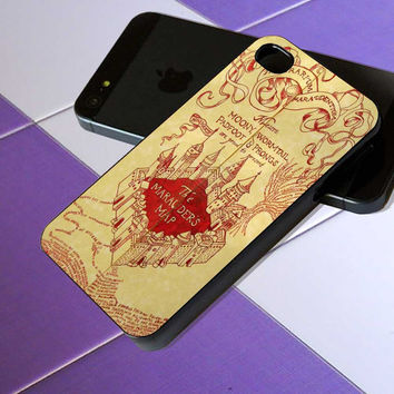 Harry Potter Marauders Map - iPhone 4 / iPhone 4S / iPhone 5 / Samsung S2 / Samsung S3 / Samsung S4 Case Cover