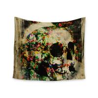 "Frederic Levy-Hadida ""Floral Skully"" Wall Tapestry"