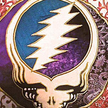 Example Of Custom Work.  Steal Your Face Sacred Geometry Patch Handmade Grateful Dead Applique
