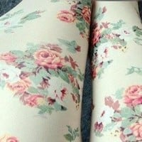 Vintage Rose Pattern Leggings