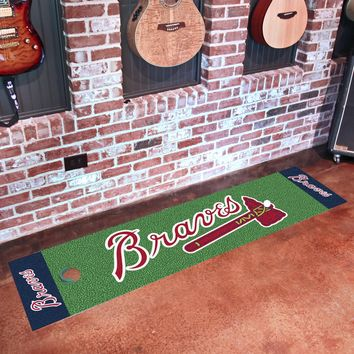 "MLB - Atlanta Braves Putting Green Runner 18""x72"""